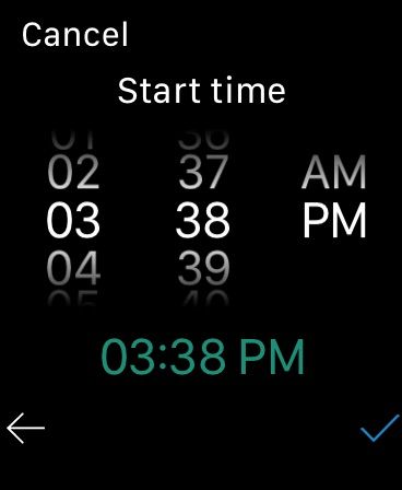 WorkHours Watch app - Time